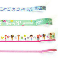 Paper House - This Is Us Washi Tape, Just Be You, 4 rullaa