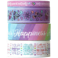 Paper House - This Is Us Washi Tape, Pastel Self Care, 4 rullaa
