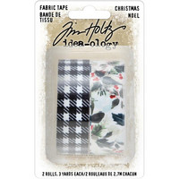 Tim Holtz - Idea-Ology Fabric Tape, Christmas, 2 rullaa
