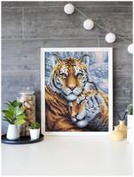 BrilliArt - Tigers (K)(N), Timanttimaalaus, 38x48cm