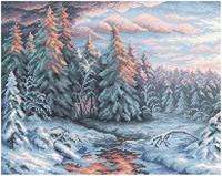 BrilliArt - Winter Sunset (K)(N), Timanttimaalaus, 48x38cm