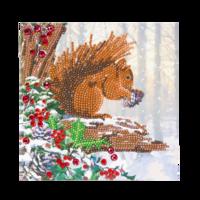 Craft Buddy - Squirrel (O)(P), Timanttityökortti, 18x18cm