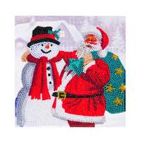 Craft Buddy - Santa & Snowman (O)(P), Timanttityökortti, 18x18cm