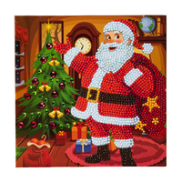 Craft Buddy - Santa's Here! (O)(P), Timanttityökortti, 18x18cm