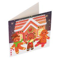 Craft Buddy - Gingerbread Family (O)(P), Timanttityökortti, 18x18cm