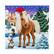Craft Buddy - Winter Horse (O)(P), Timanttityökortti, 18x18cm