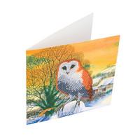 Craft Buddy - Winter Owl (O)(P), Timanttityökortti, 18x18cm