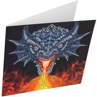 Craft Buddy - Dragon Fire Head (O)(P), Timanttityökortti, 18x18cm