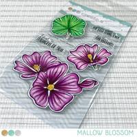 Create A Smile - Mallow Blossoms, Leimasetti