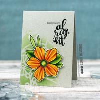 Create A Smile - Doodle Flowers, Leimasetti