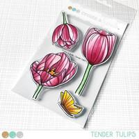 Create A Smile - Tender Tulips, Leimasetti
