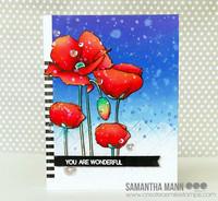Create A Smile - Pure Poppies, Leimasetti