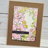 Pinkfresh Studio - Floral Notes, Leimasetti