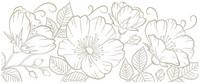 Spellbinders - Glimmer Hot Foil Plate, Sweet Blooms Border