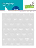 Lawn Fawn - Conversation Heart  Stencil, Sapluunasetti