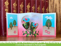 Lawn Fawn - Center Picture Window Card Heart Add-on, Stanssisetti