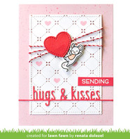 Lawn Fawn - Hugs And Kisses Line Border, Stanssi