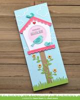 Lawn Fawn - Magic Iris Birdhouse Add-on, Stanssisetti