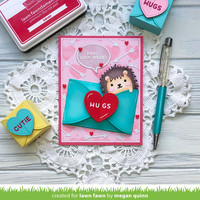 Lawn Fawn - Gift Card Heart Envelope, Stanssisetti