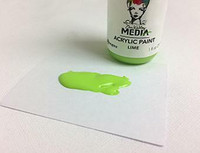 Dina Wakley Media - Acrylic Paint, Lime, 29ml