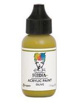 Dina Wakley Media - Acrylic Paint, Olive, 29ml