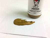Dina Wakley Media - Metallic Acrylic Paint, Gilt, 29ml