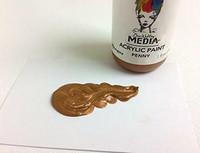 Dina Wakley Media - Metallic Acrylic Paint, Penny, 29ml