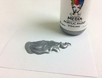 Dina Wakley Media - Metallic Acrylic Paint, Sterling, 29ml