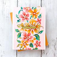 Pinkfresh Studio - Stencils A2, Seamless Floral Panel