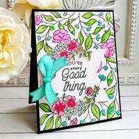 Pinkfresh Studio - Cling Rubber Stamp, Sweet Blooms, Leima
