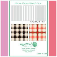 Waffle Flower - Stencils, Stripe Plaids Trio