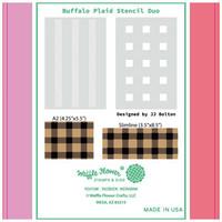 Waffle Flower - Stencils, Buffalo Plaid Duo