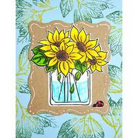 Stampendous - Pop Sunflower, Leimasetti
