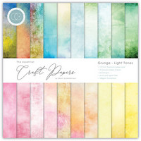 Craft Consortium - Essential Craft Papers, Grunge Light Tones, 6