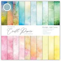 Craft Consortium - Essential Craft Papers, Grunge Light Tones, 6