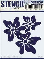 Paper Artsy - Mini Stencil 011, Sapluuna