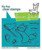 Lawn Fawn - Butterfly Kisses Flip-flop, Leimasetti