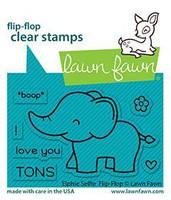 Lawn Fawn - Elphie Selfie Flip-flop, Leimasetti