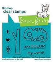 Lawn Fawn - One in a Chameleon Flip-flop, Leimasetti