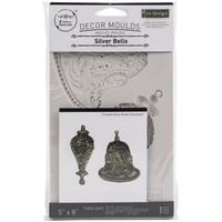 Prima Marketing - Decor Mould, Silver Bells, Silikonimuotti