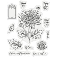 Gemini - Stamp & Die, November Chrysanthemum, Stanssi- ja leimasetti