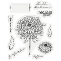 Gemini - Stamp & Die, September Aster, Stanssi- ja leimasetti