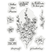 Gemini - Stamp & Die, August Gladiolus, Stanssi- ja leimasetti