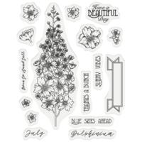 Gemini - Stamp & Die, July Delphinium, Stanssi- ja leimasetti
