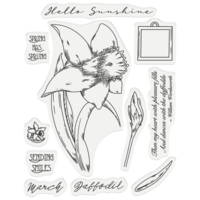 Gemini - Stamp & Die, March Daffodil, Stanssi- ja leimasetti