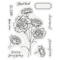 Gemini - Stamp & Die, January Carnation, Stanssi- ja leimasetti