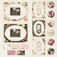 Crafter's Companion - Bloom with Grace, Die-Cut Topper Pad  12