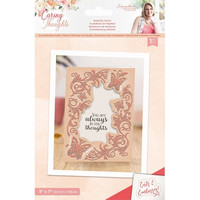 Crafter`s Companion - Sara Signature Collection  Caring Thoughts, Cut and Emboss Folder, Butterfly Swirls