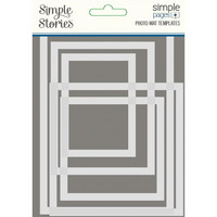 Simple Stories - Simple Pages Photo Mat Templates, Sapluunasetti