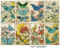 Decorer - Butterflies, Korttikuvia, 24 osaa